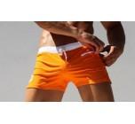 กางเกงว่ายน้ำผู้ชาย สีส้ม ตัดขอบ สีขาว กางเกงว่ายน้ำ ขาสั้น แฟชั่น แบบมี กระเป๋าหน้าใส่เงิน ใส่กุญแจ ได้ กางเกงว่ายน้ำ วัยรุ่น 6558333