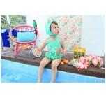 ชุดว่ายน้ำ เด็กหญิง กระต่ายน้อย สีมิ้นท์ พร้อมส่ง